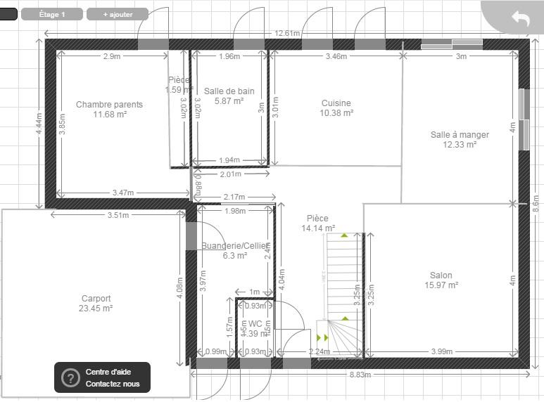 130m entr e au nord expo sud r 1 3 chambres 2 sdb - Plan maison entree sud ...