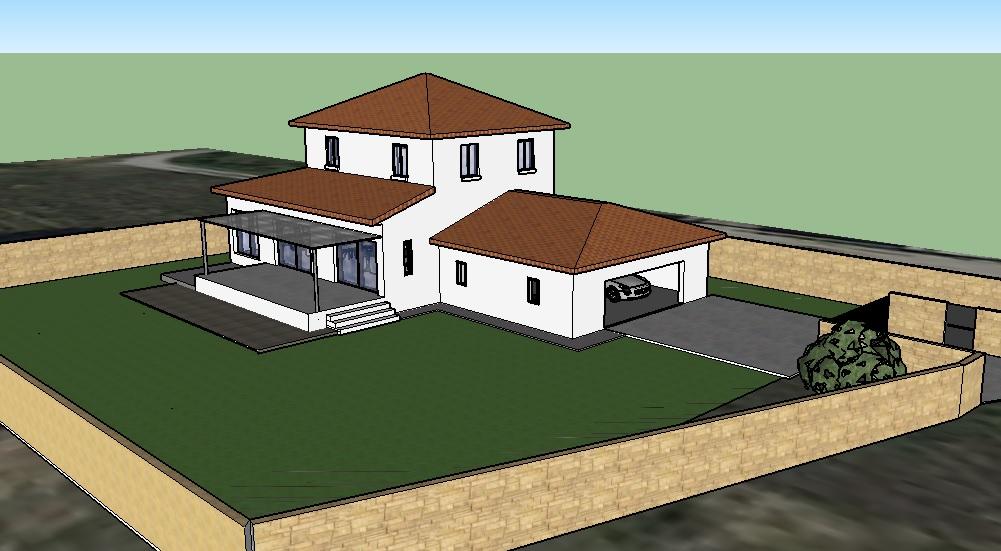Maison contemporaine 160m2 ste croix de quintillargues for Maison moderne 160m2