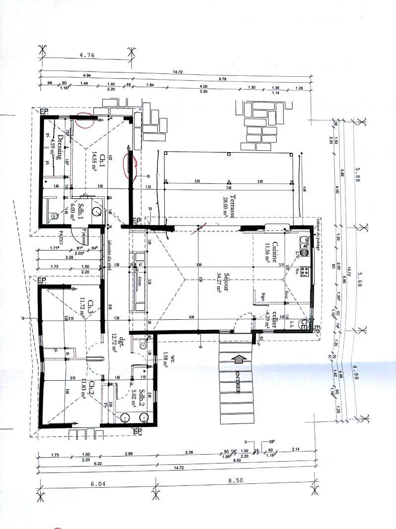 plan de maison 135 m2