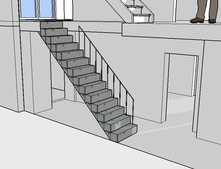 escalier trop raide interesting escalier sur mesure quel est le bon ratio hauteur giron with. Black Bedroom Furniture Sets. Home Design Ideas