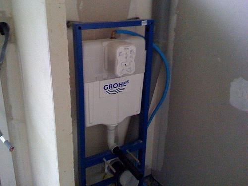 On commence la plomberie suite plomberie et lectricit les dalles acome - Prix pose wc suspendu ...