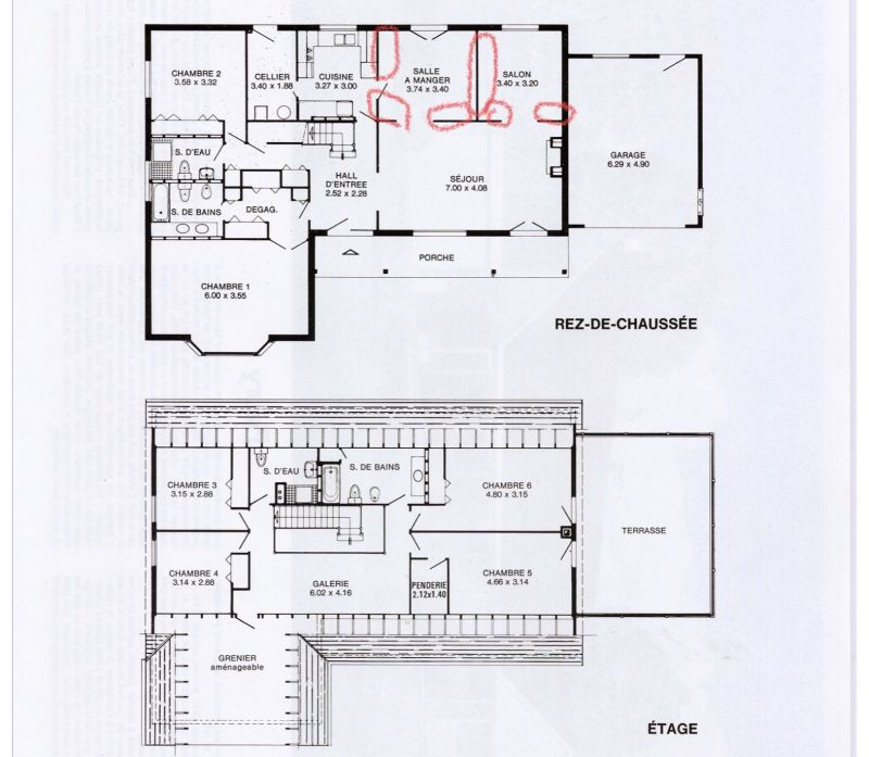 plan de maison 220 m2