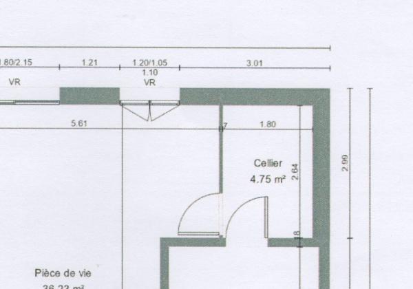 Agencement cuisine ouverte d 39 environ 6m2 par o for Plan cuisine ouverte 6m2