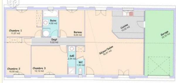 aide 110 m2 plein pied 18 messages. Black Bedroom Furniture Sets. Home Design Ideas