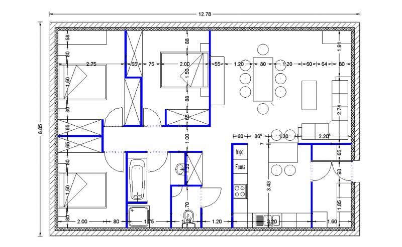 Plan amnagement maison proposition intrieur de la maison for Amnagement maison 3d