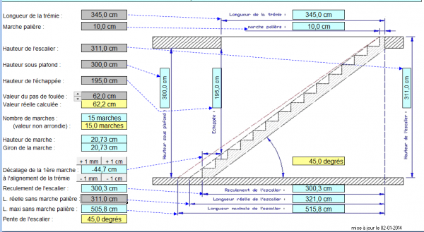 calcul escalier quart tournant avec palier. Black Bedroom Furniture Sets. Home Design Ideas