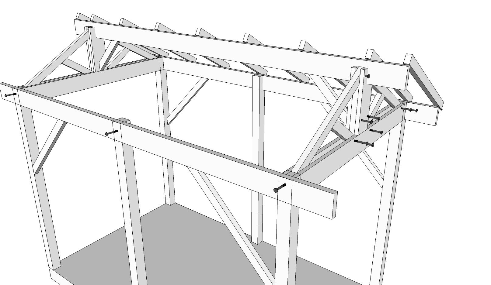 Aide construction abri de jardin 34 messages page 2 - Plan cabanon de jardin ...