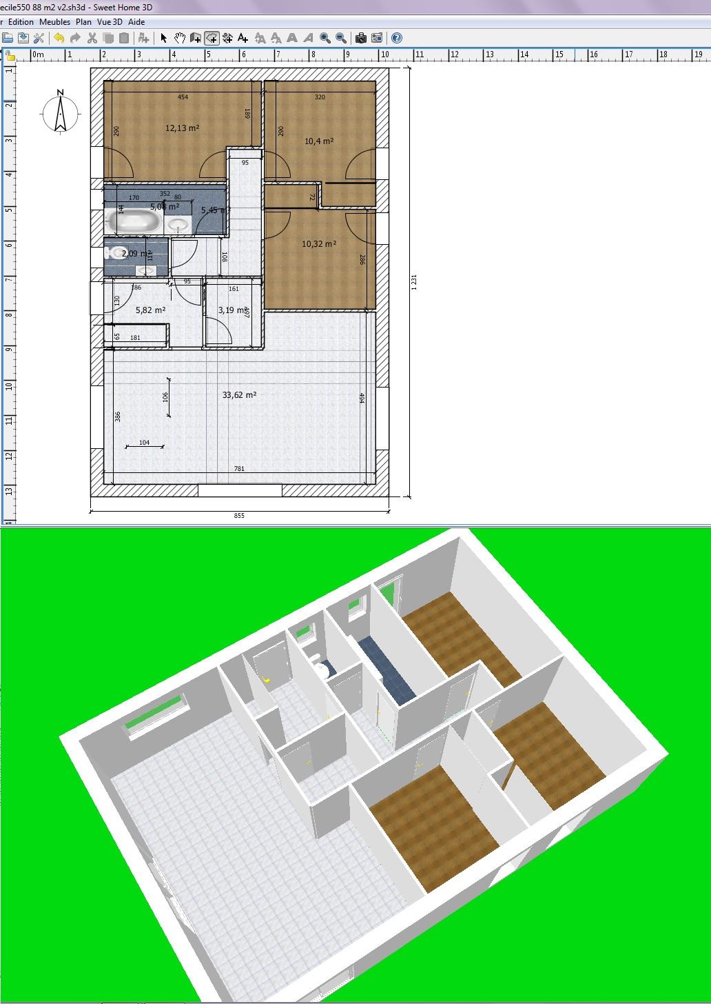 Aide plan de maison de 80 m2 309 messages page 18 for Plan maison 80 m2