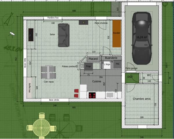 aide plan rdc d 39 une maison tage r solu 25 messages. Black Bedroom Furniture Sets. Home Design Ideas