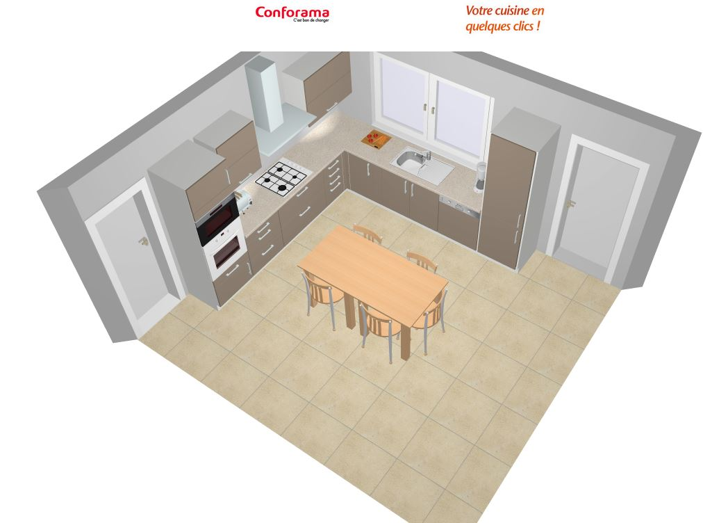 Amenagement cuisine 16 messages for Plan amenagement cuisine 10m2