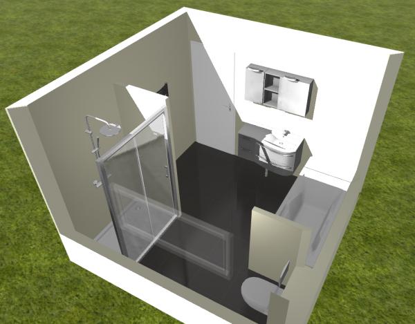 am nagement salle de bain de 9m2 3x3 r solu 34 messages. Black Bedroom Furniture Sets. Home Design Ideas
