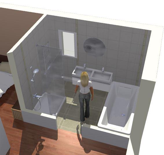 Amenagement salle de bains maison design for Amenagement salle de bain