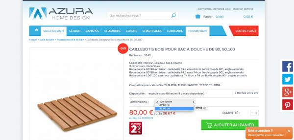 attention promo caillebotis chez azura home design 4. Black Bedroom Furniture Sets. Home Design Ideas