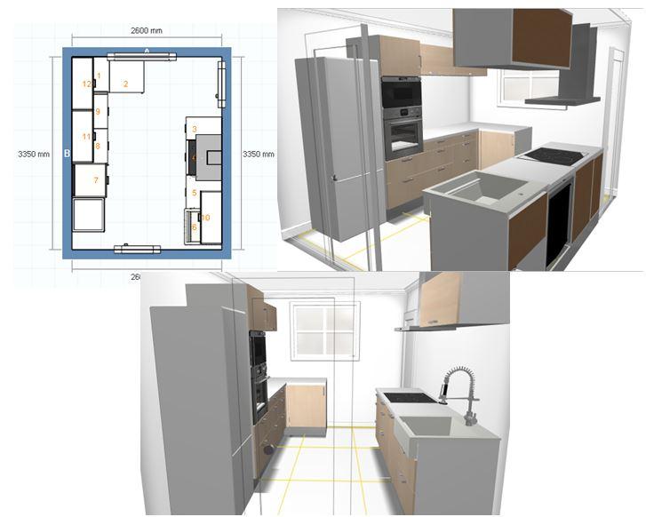 beaufiful cuisine en parall le photos cuisine parallele. Black Bedroom Furniture Sets. Home Design Ideas