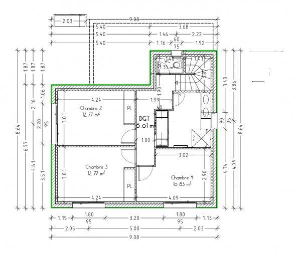 Vos avis sur agencement des pi ces de notre future maison - Plan maison avec cotation ...