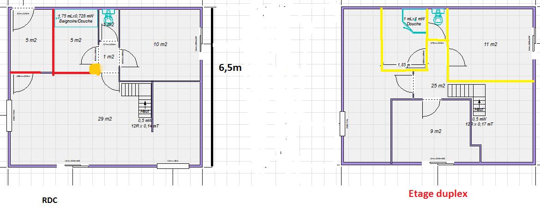 plan appartement mur porteur