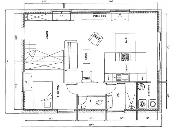 Plan Maison  Chambre Plan Etage Maison Maison Bbc  Maison