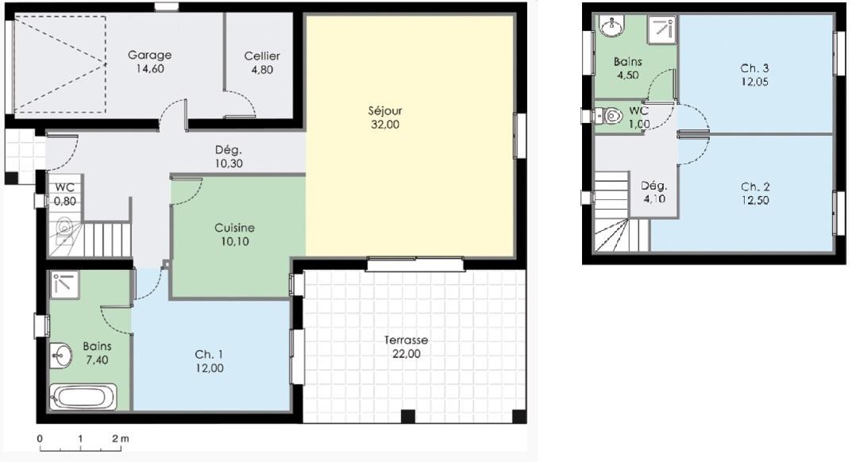 Avis et conseils pour maison plain pied rt2012 100 105 for Plan maison plain pied 70m2