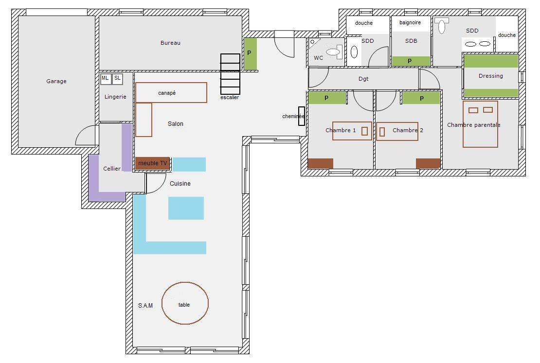 avis et de conseils pour plan 150m2 31 messages. Black Bedroom Furniture Sets. Home Design Ideas
