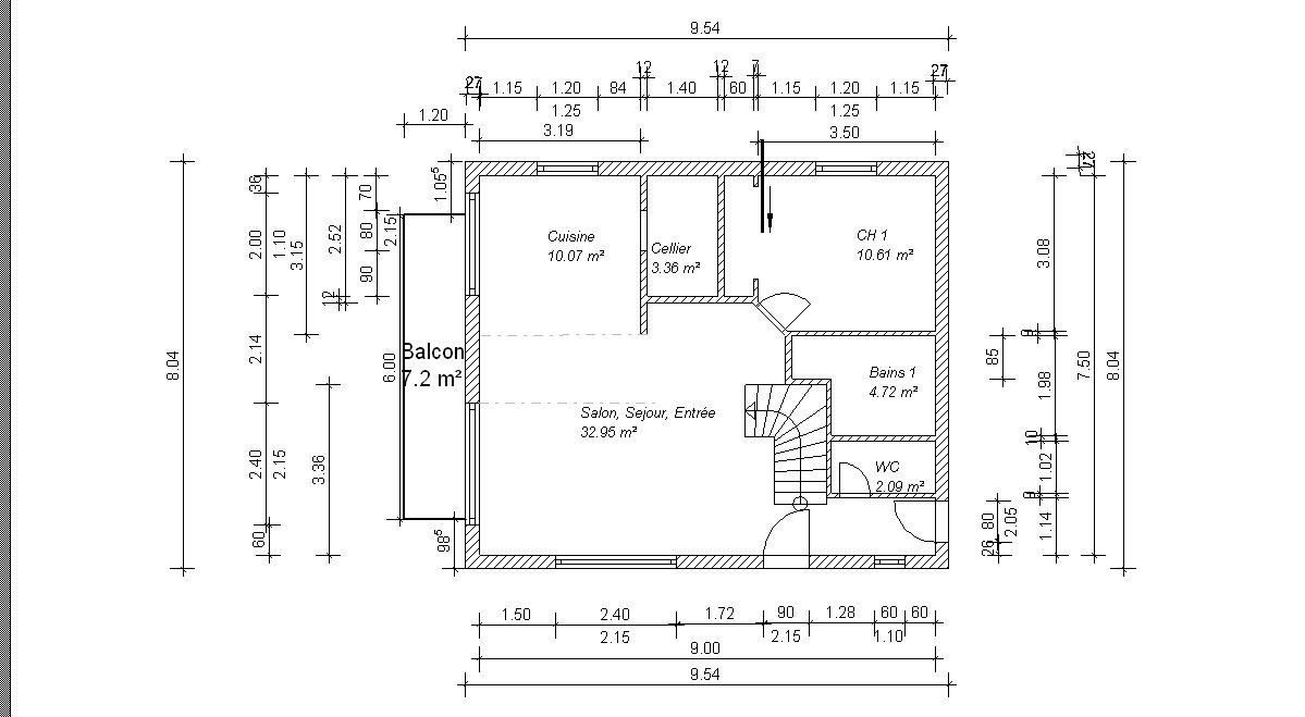 Plan maison 9m facade for Facade design maison