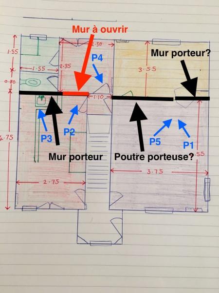 avis faisabilit co t agrandissement ouverture dans mur porteur. Black Bedroom Furniture Sets. Home Design Ideas