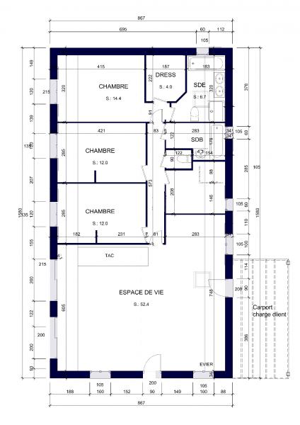 Avis sur implantation de maison plein pied sur terrain for Plan implantation maison