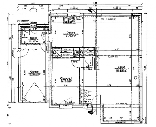 plan d'implantation de maison