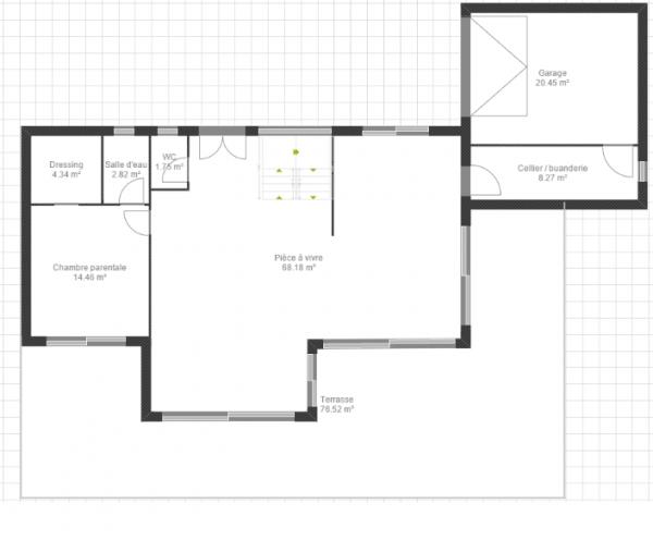 Des avis sur notre premier jet de plan maison 140 m2 r 1 - Plan maison 140 m2 etage ...