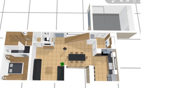 Des avis sur notre premier jet de plan maison 140 m2 r 1 Plan maison suite parentale rdc