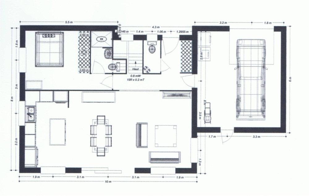 Plan de maison vitree for Plan maison suite parentale rdc