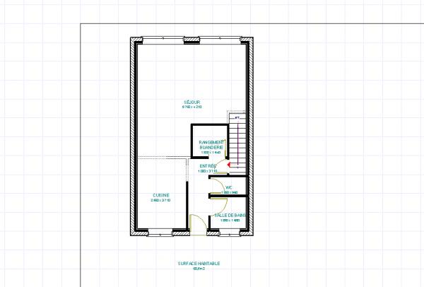 plan maison 6 m facade. Black Bedroom Furniture Sets. Home Design Ideas