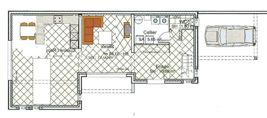 plan maison sur terrain en longueur. Black Bedroom Furniture Sets. Home Design Ideas