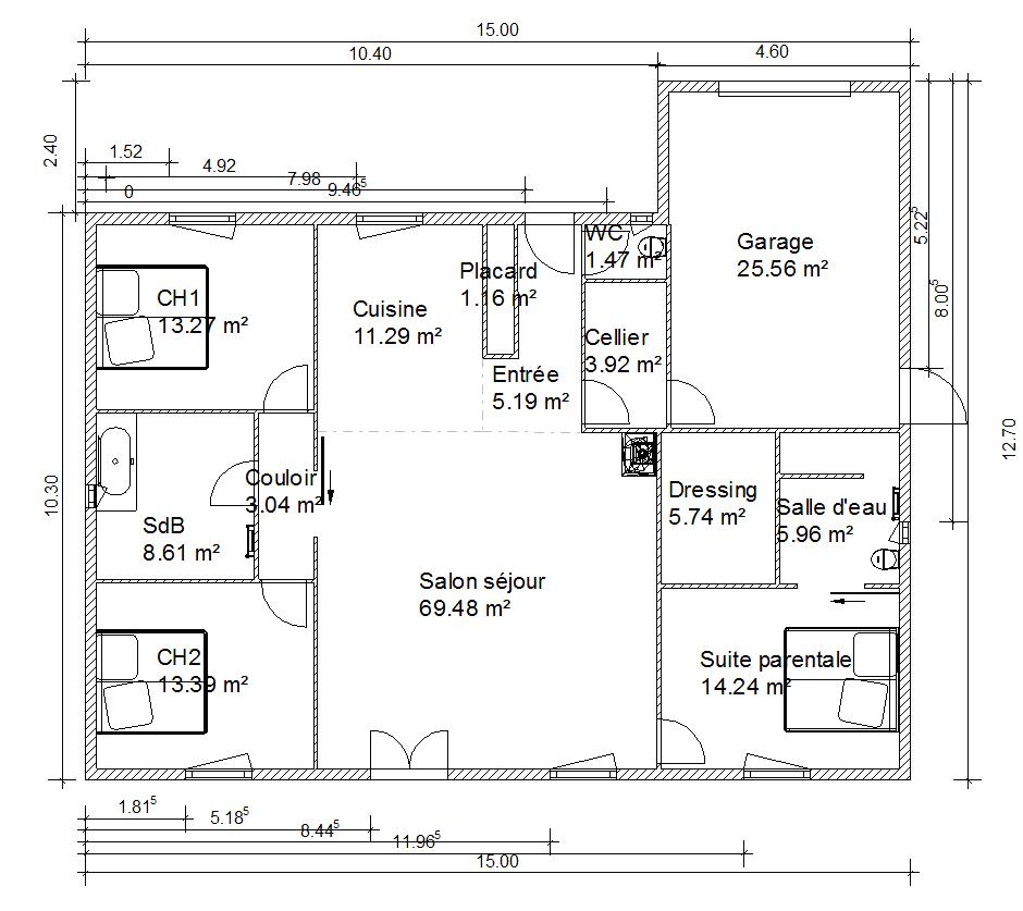 Cout construction maison parpaing for Cout fabrication maison