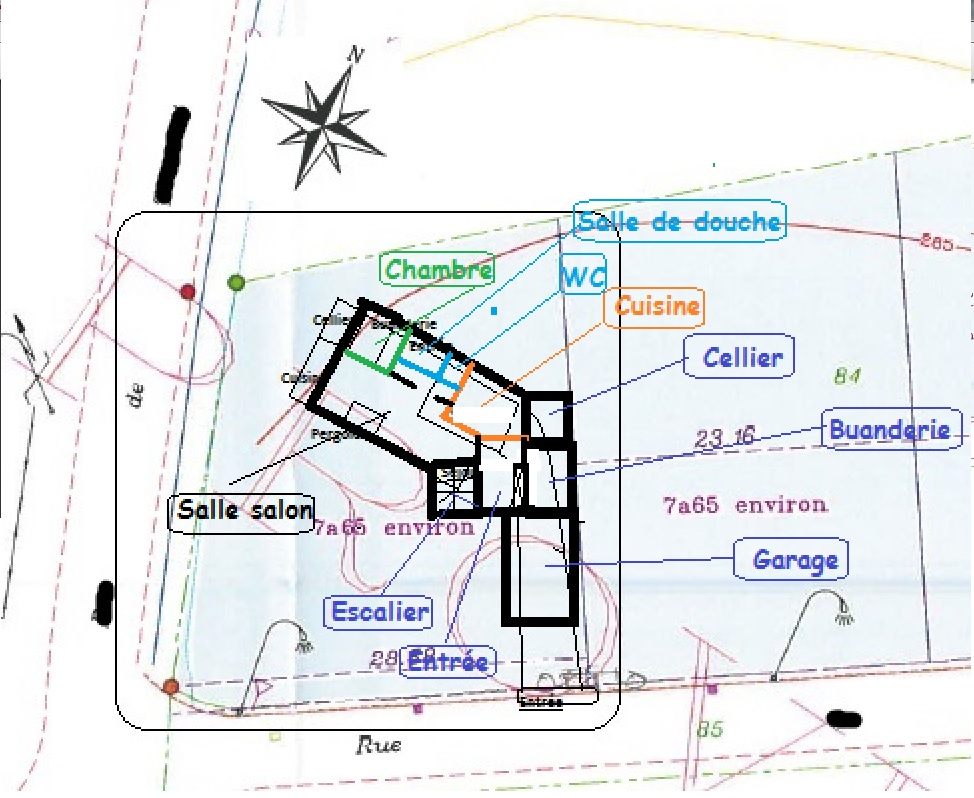 avis orientation maison sur terrain 765 m 6 messages. Black Bedroom Furniture Sets. Home Design Ideas
