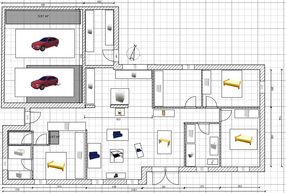 plan maison avec sweet home 3d
