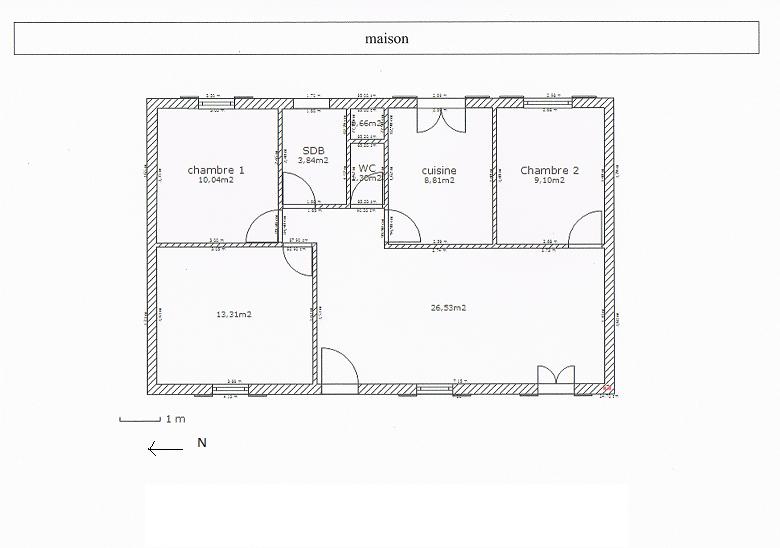 Plan De Maison Sans Couloir