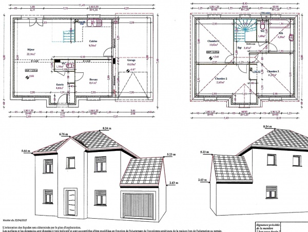 R 1 plan de maison for Plan maison 100m2 2 etages