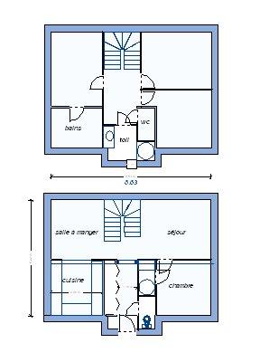plan de maison 100m2 r+1