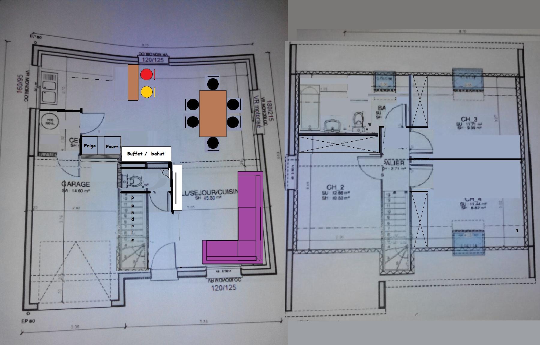 plan maison 85m2 r+1