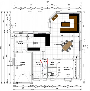 Avis plan et am nagement maison avec comble 154m2 52 for Plan amenagement salon