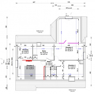 Avis plan et am nagement maison avec comble 154m2 52 for Plan amenagement comble