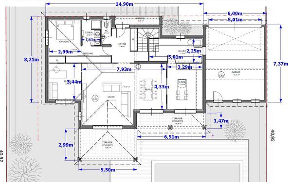 avis plan d 39 architecte r 1 de 150 m 45 messages. Black Bedroom Furniture Sets. Home Design Ideas