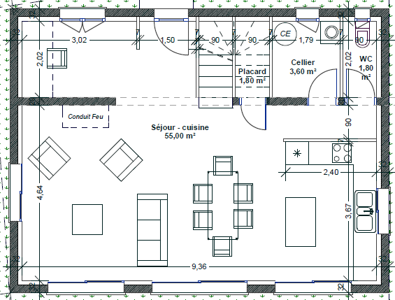 Plan Maison Bastide