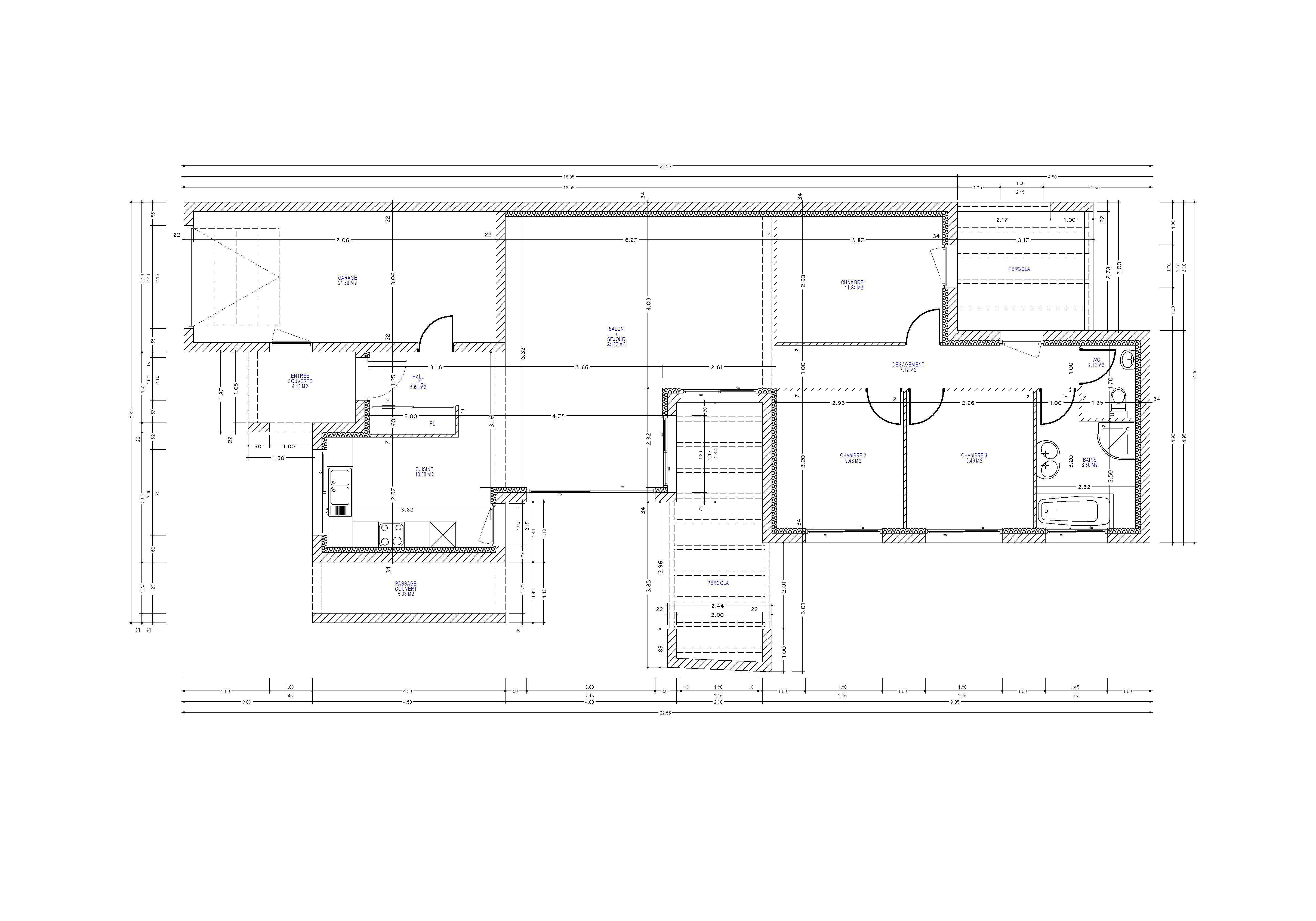 Plan Maison En T Stunning Maison Sciacca Par Jeanpierre