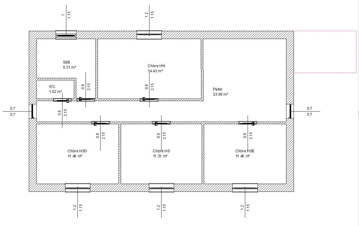 Plan Maison 7M X 12M