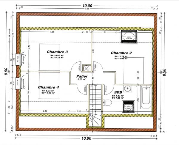 plan maison r+3