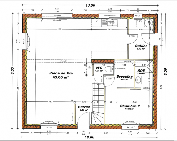 plan de maison r+5