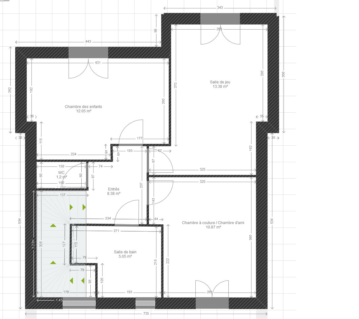 Elevation Sur Un Plan : Avis plan maison r de m² rénovation élévation d