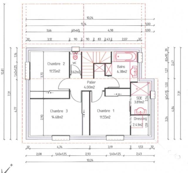 Plan maison 110m2 tage avie home - Plan maison 110m2 etage ...