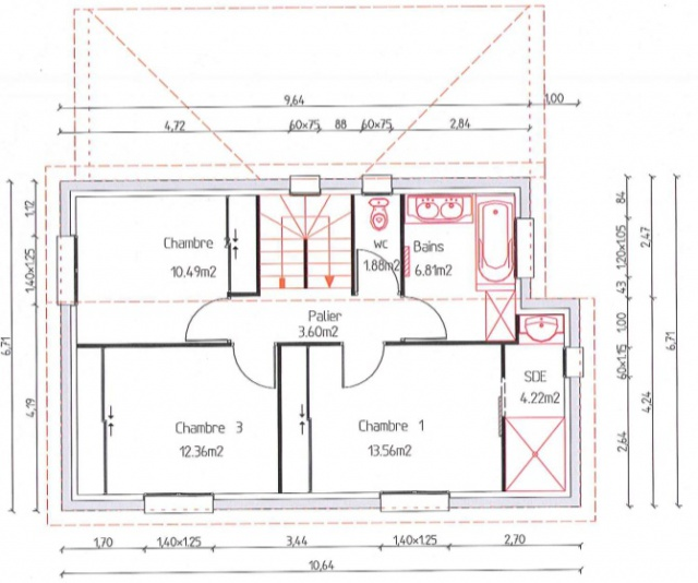 Avis plan de maison r 1 110m2 26 messages for Plan maison longueur